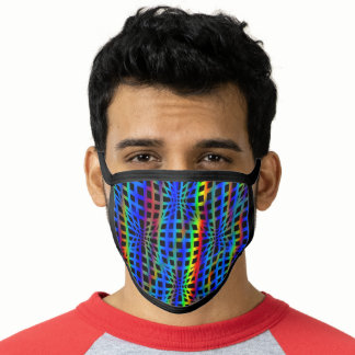 Gay Rainbow Flag Colors Net Style Design GLBTQ Face Mask