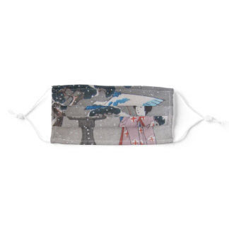 Geisha in Snow Adult Cloth Face Mask