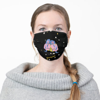 Gemini Zodiac Sign in space Adult Cloth Face Mask