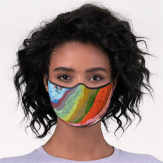 Geologic Map of Southeast Texas face mask