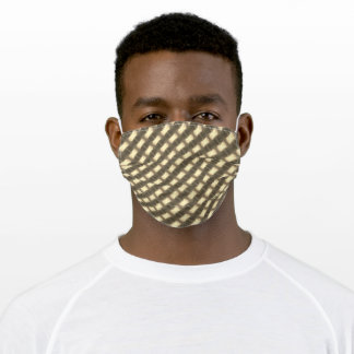 Geometric Brown Beige Pattern Adult Cloth Face Mask