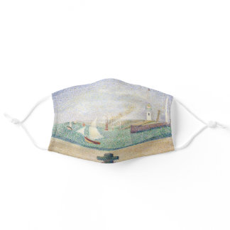 Georges Seurat - Entrance of the Port of Honfleur  Adult Cloth Face Mask