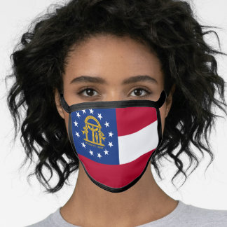 Georgian flag, American state flag Face Mask