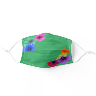 Gerbera Daisy Colorful Simple Pretty For her Adult Cloth Face Mask
