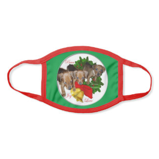 German Pinscher Christmas Face Mask
