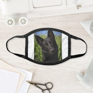 German Shepherd Black Cloth Face Mask