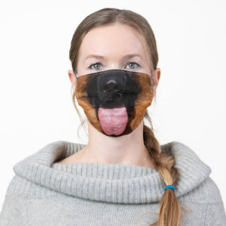German Shepherd Mouth Dog Funny Face Adult Cloth Face Mask