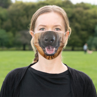 German Shepherd Mouth Face Mask