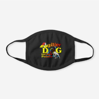 German Shorthaired Pointer Agility Black Cotton Face Mask