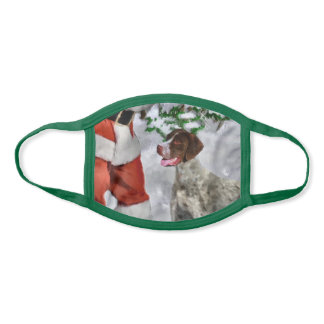 German Shorthaired Pointer Christmas Face Mask
