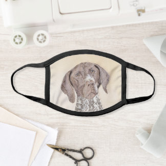 German Shorthaired Pointer Painting - Dog Art Face Mask