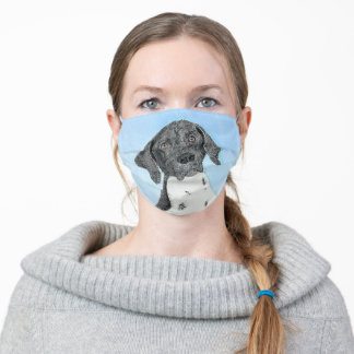 German Shorthaired Pointer Painting - Original Art Adult Cloth Face Mask