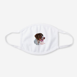 German Shorthaired Pointer White Cotton Face Mask