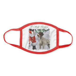 German Wirehaired Pointer Christmas Face Mask