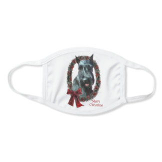 Giant Schnauzer Christmas Face Mask