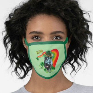 Giant Schnauzer St. Patricks Day Face Mask