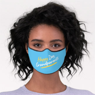 Gift of Happy day my grandparents Premium Face Mask