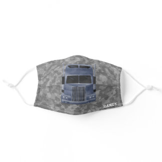 Gifts for Semi Truck Drivers, Black Camo Adult Cloth Face Mask