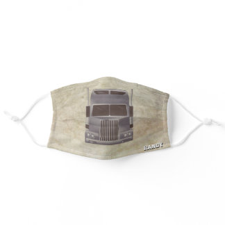 Gifts for Semi Truck Drivers, Grunge Brown Adult Cloth Face Mask