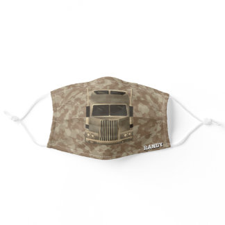 Gifts for Semi Truck Drivers, Tan Camo Adult Cloth Face Mask