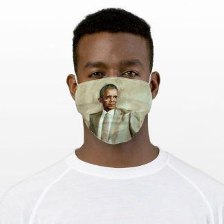 Gilded White House Portrait, President Obama Adult Cloth Face Mask
