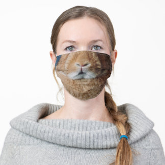 Ginger Bunny Animal Face Adult Cloth Face Mask