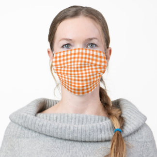 Gingham Check Adult Cloth Face Mask