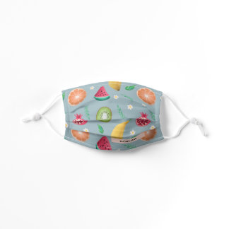 Girls Cute and Modern Floral Tropical Fruit  Kids' Cloth Face Mask