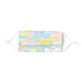 Girly Pink & Pastels Camo Pattern Adult Cloth Face Mask