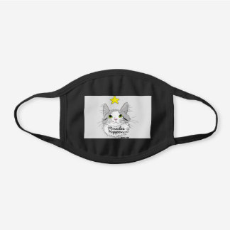 GIZMO Ragdoll Cat Miracles Cute Black Cotton Face Mask
