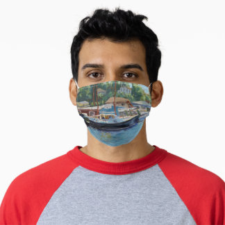 Gloucester Scenic Fishing Boats Adult Cloth Face Mask