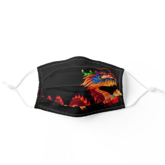 Glowing Chinese Parade Dragon Adult Cloth Face Mask