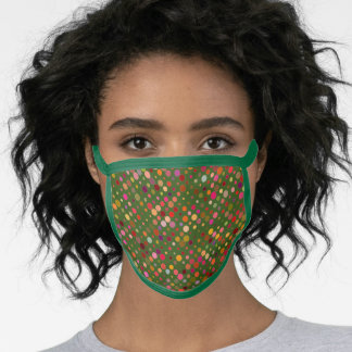 Go Green - Dotted Pattern Face Mask