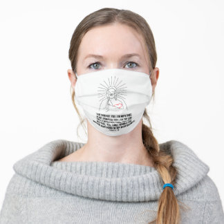 God Bless And Protect You. Fear Thou Not Be Strong Adult Cloth Face Mask