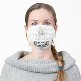 God Bless And Protect You. I Will Bring It Health Adult Cloth Face Mask