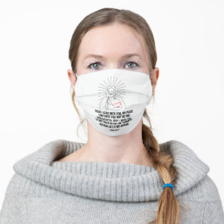 God Bless And Protect You. Peace I Leave With You Adult Cloth Face Mask