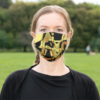 GOLD BALL ADULT CLOTH FACE MASK