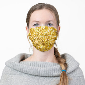 Gold Bling Sparkle Adult Cloth Face Mask