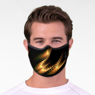 Gold Brown Abstract Luxury Elegant Custom Office Premium Face Mask