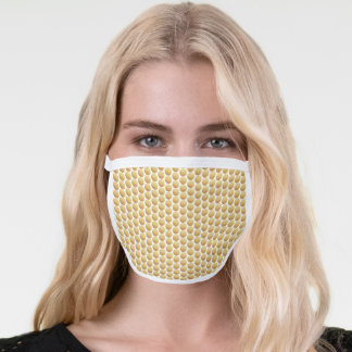 Gold Circles Face Mask