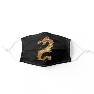 Gold Dragon Adult Cloth Face Mask