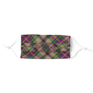 Gold-mustard Plaid Adult Cloth Face Mask