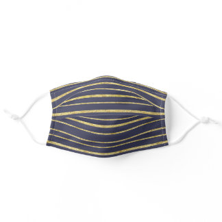 Gold Stripes Martinique Pattern | Face Mask