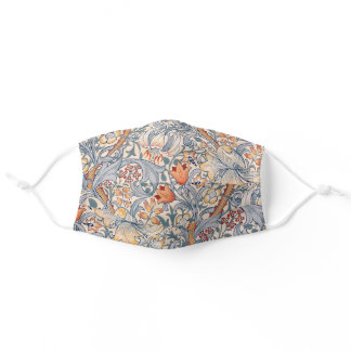 Golden Lily, William Morris Adult Cloth Face Mask