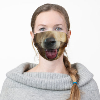 Golden Retriever Adult Cloth Face Mask