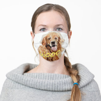 Golden Retriever and Personalized Meme Adult Cloth Face Mask