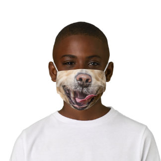 Golden Retriever Mouth and Snout Kids Face Mask