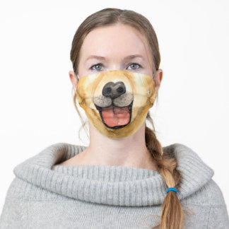 Golden retriever nose mouth adult cloth face mask