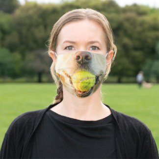 Golden Retriever with Ball Adult Cloth Face Mask