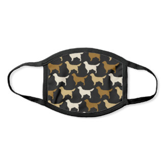 Golden Retrievers | Dog Silhouettes Pattern Face Mask